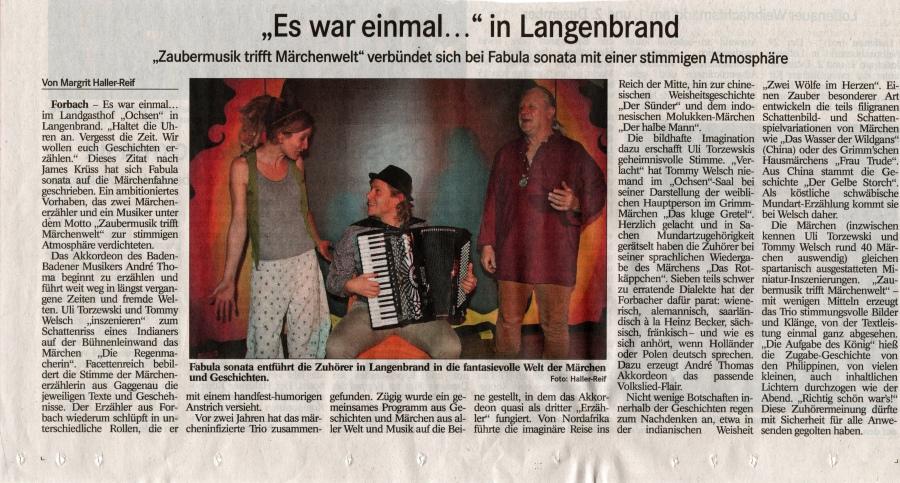 Badisches Tagblatt 26. Nov. 2018